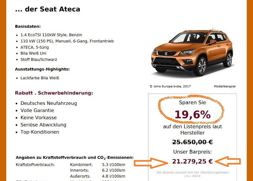 heiss begeht der seat ateca neuwagen mit gro em. Black Bedroom Furniture Sets. Home Design Ideas
