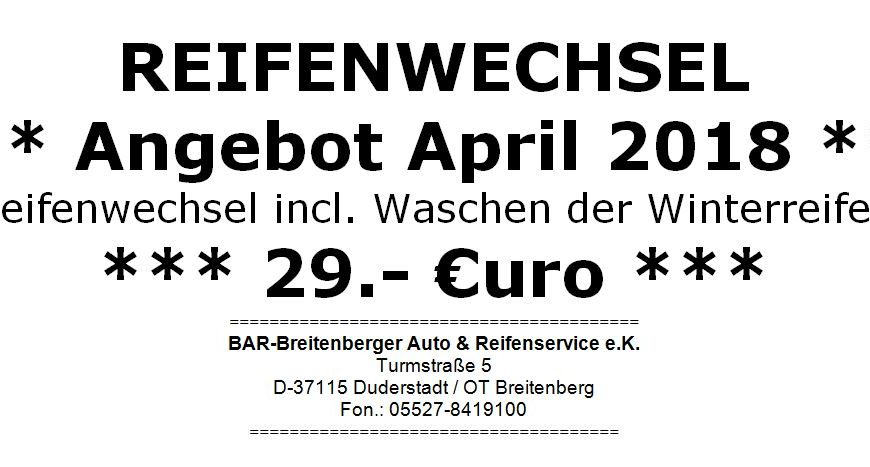 APRIL – ANGEBOT