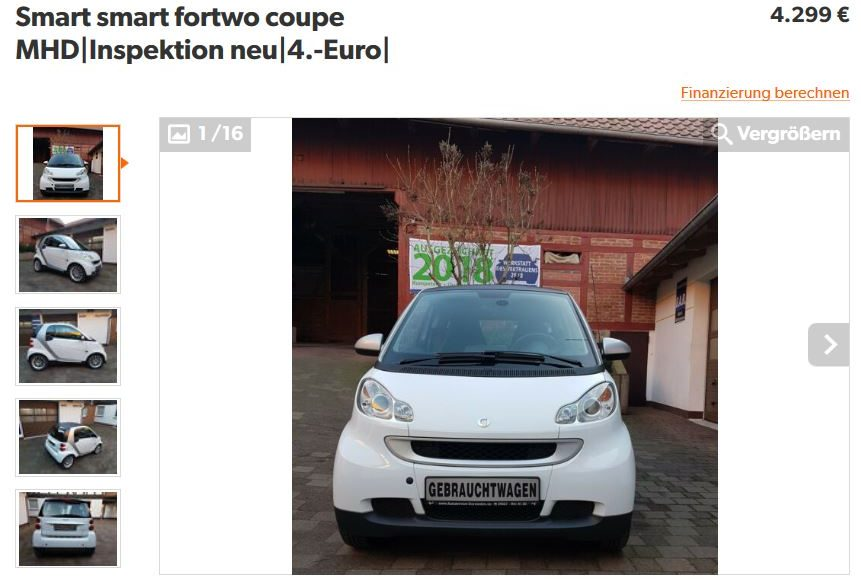 🚘 SMART [fortwo] car for all 🚘 | EZ: 02/2012 | 88.955km | Benziner